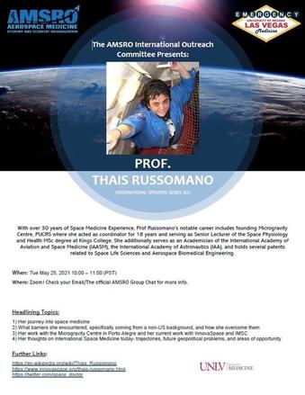 May 25: AMSRO International Speaker