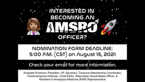 AMSRO Officer Election Applications- DUE August 15, 2021