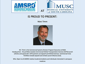 MUSC AMSRO Meeting   May 26   7 PM (ET)
