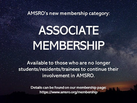 Graduating from residency but want to still be in AMSRO?