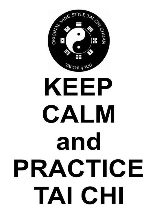 keep kalm and practice Tai Chi