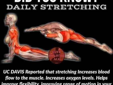 Include stretching to your daily Tai Chi practice