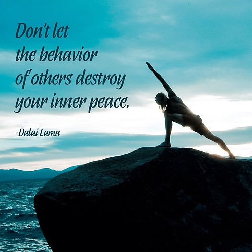 Dont let the behaviour of others destroy