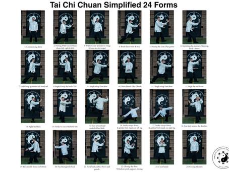 Tai Chi 24 Form Postures