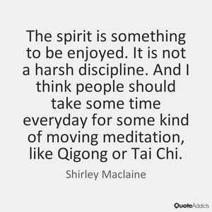 Tai Chi Practice makes you feel joy end improves your mental state of mind :)