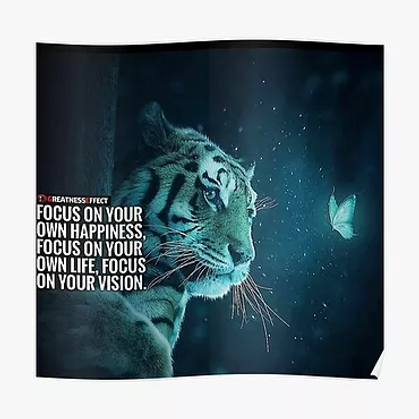 Focus on your own happiness tiger mind s