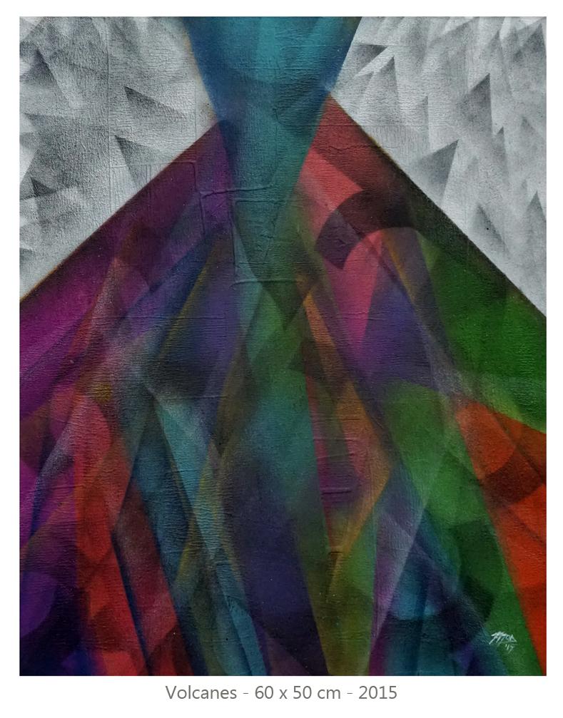 Mod Cardenas - Volcanes - 60 x 50 cm - 2