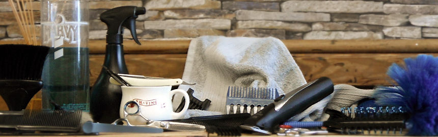 At La Touche Barbers grooming, hot towel shave, precision haircuts, beard trimming and more