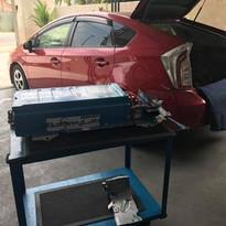 Red Prius installation @ Battery Lab, Nu