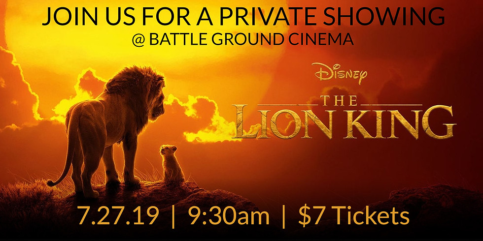 LION KING MOVIE - PRIVATE SHOWING