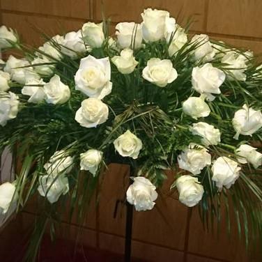 4ft White Rose Spray