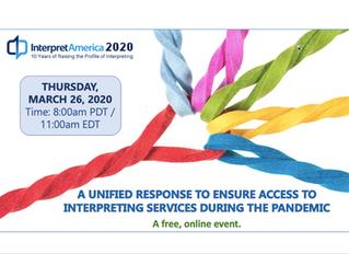 Announcing InterpretAmerica 2020: An Online Event to Help Us Ensure Access to Interpreting
