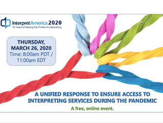Announcing InterpretAmerica 2020: An Online Event to Help Us Ensure Access to Interpreting