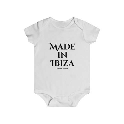 """Made In Ibiza"" Baby Grow"