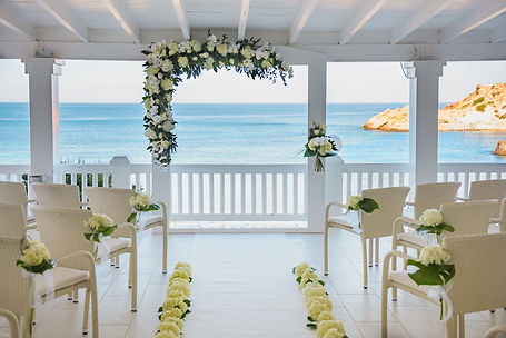 CBC Floral archway with sea views