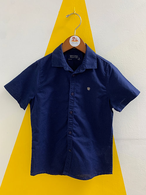 Mayoral Navy Shirt Size 5