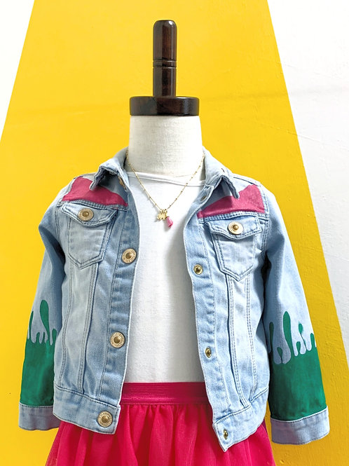 Customized Denim Jacket Size 2/3T