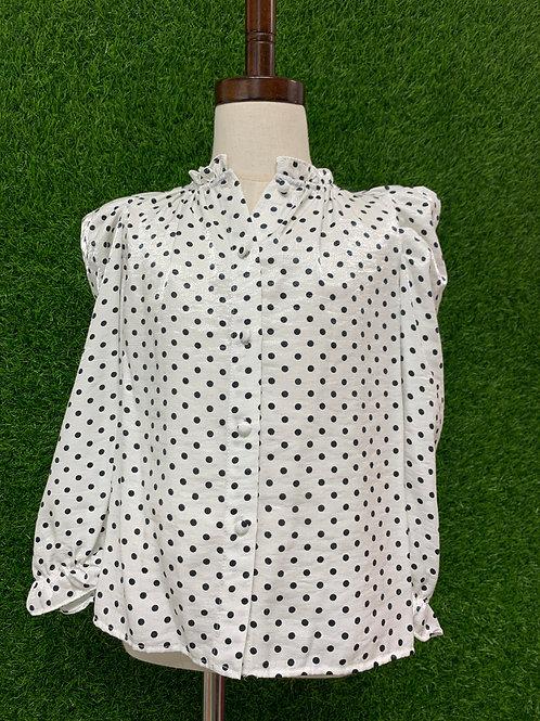 Zara Polka-Dot Shirt -Size 7