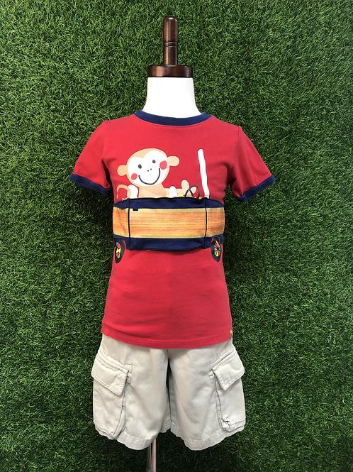 Lazoo Monkey T-Shirt -Size 4T-