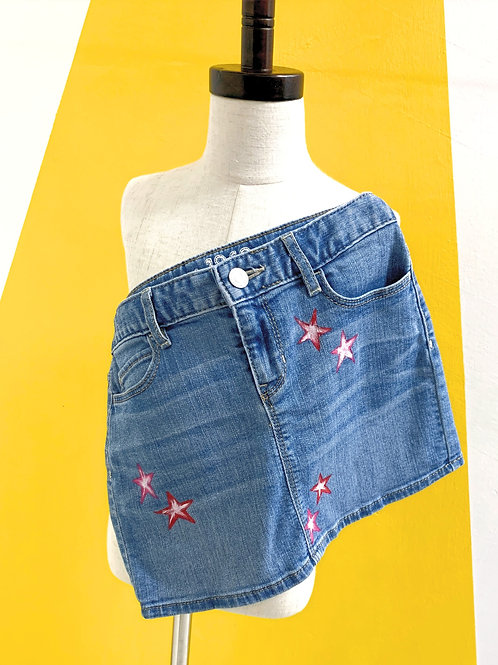 Customized Denim Skirt Size10