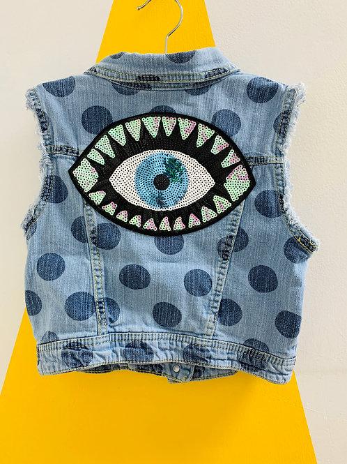 Upcyled Polka-Eye vest