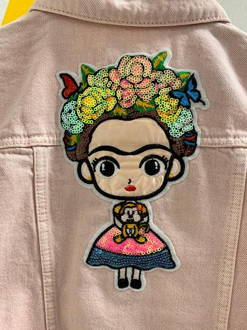 """Upcyled """"Frida"""" Pink Jacket Size 3/4"""
