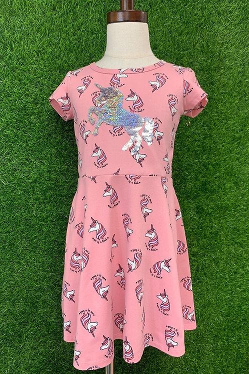 """Lily Blue """"Unicorn"""" Dress Size 5"""