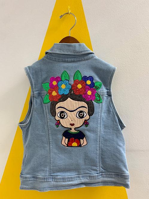 """Upcycled """"Frida"""" Vest Size 10/12"""