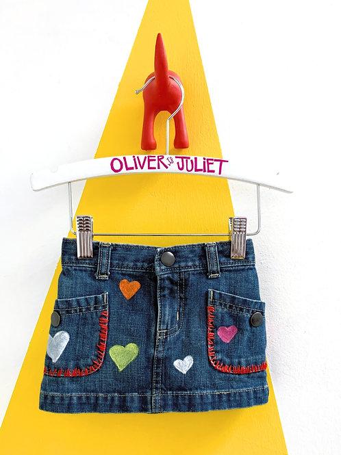 Customized Denim Skirt Size 6-12M