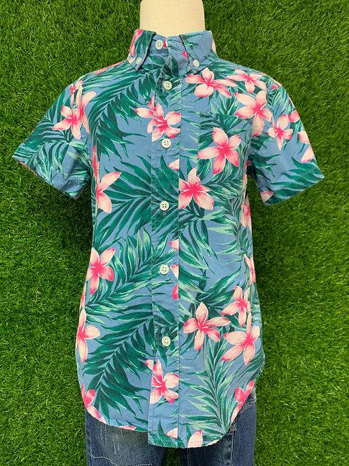 Crewcuts tropical shirt -Size 4/5