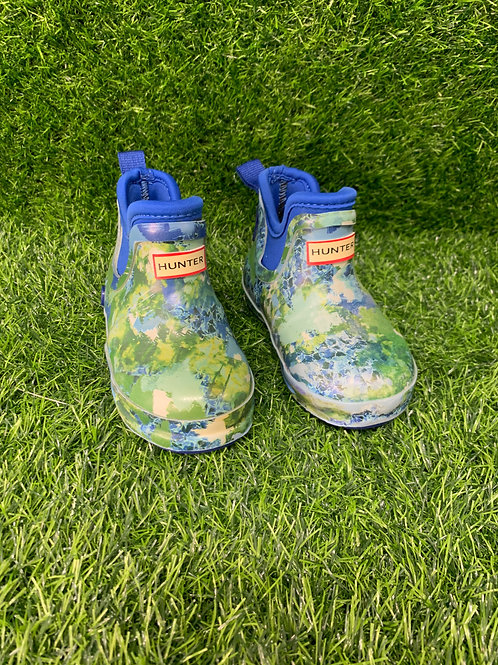 Hunter Green rain Boots -Size 6-