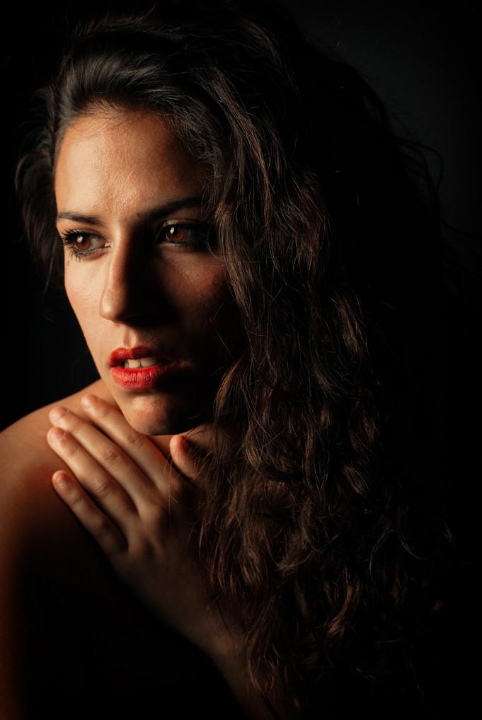 Retrat d'estudi. Model: Montse Piqué.