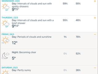 Accuweather Update on Messier Marathon Weather March 24/25 Ballinskelligs Kerry