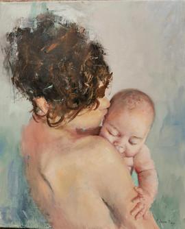 Maternidad III-73x65 oleo