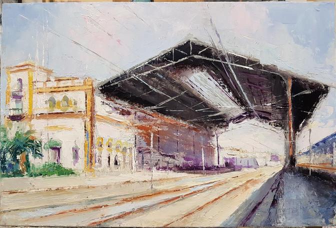Estacion de Tren de Jerez II 45X30 Dispo