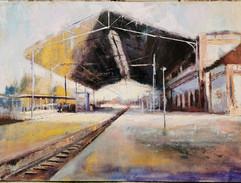 Estación de Jerez-100x73 óleo