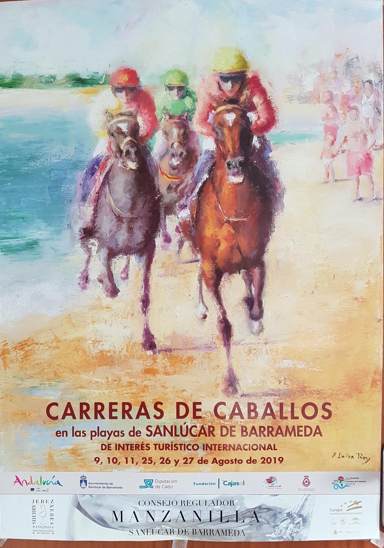 cartel de las carreras de caballo
