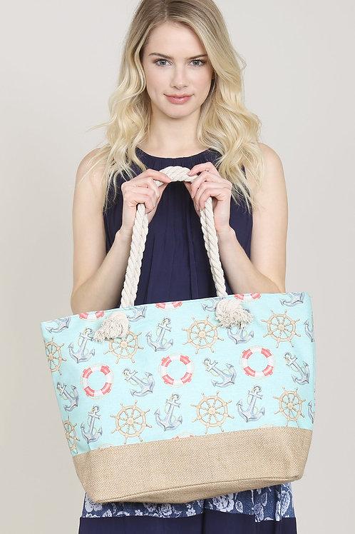 Fc0079 - Anchor Print Tote Bags