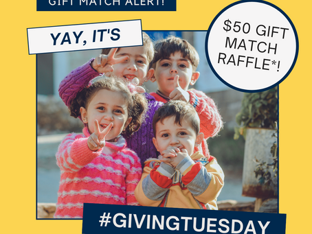 We want to match your #GivingTuesday donation
