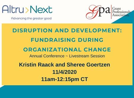 Disruption & Development: Fundraising during Organizational Change