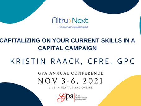 Capitalizing on your Current Skills in a Capital Campaign