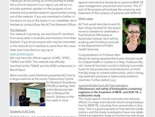 ACTnet April to June Newsletter