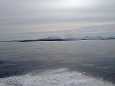 The Twelve Bens, (Maamturk Mountains) from the Sea, Connemara.