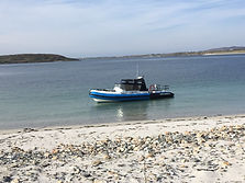 'Bluefin' Redbay Stormforce RIB at Turbot Island Strand, Connemara