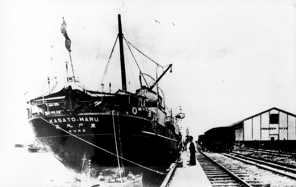 Navio Kasato Maru - ©Acervo do Museu Histórico da Imigração Japonesa no Brasil