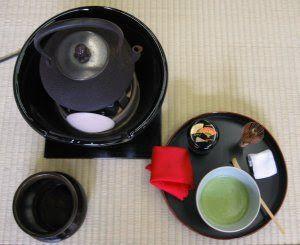 Utensílios da Cerimônia do Chá