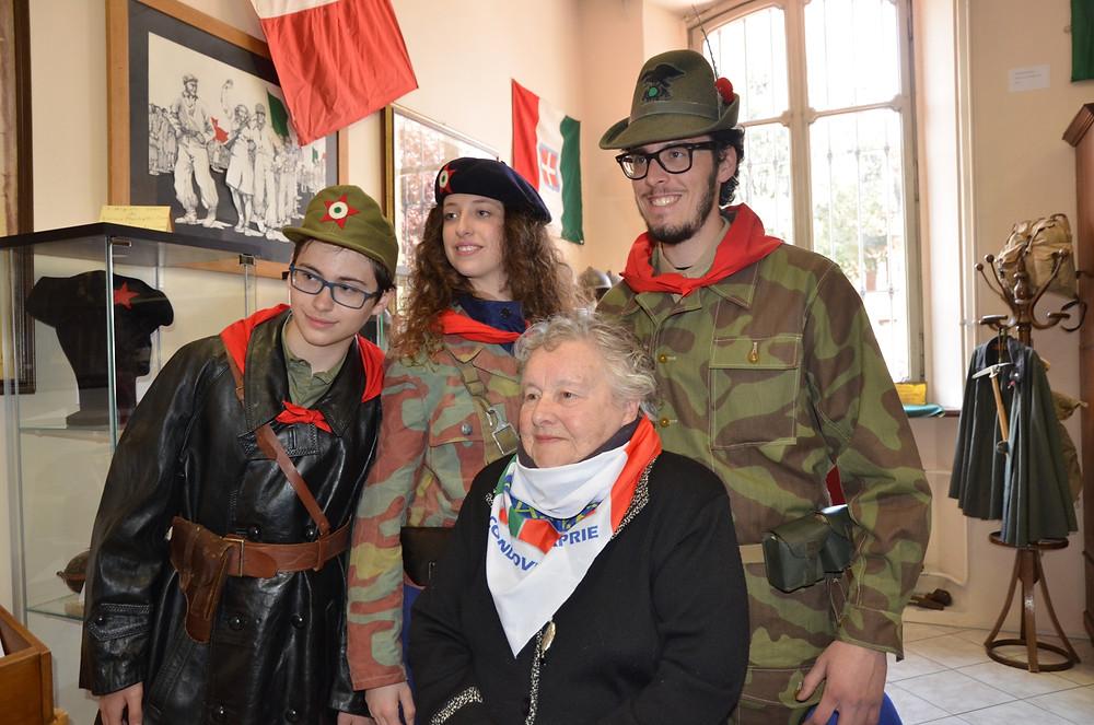 Con Enrica (Fasulin) all'inaugurazione del Museo Valsusino della Resistenza