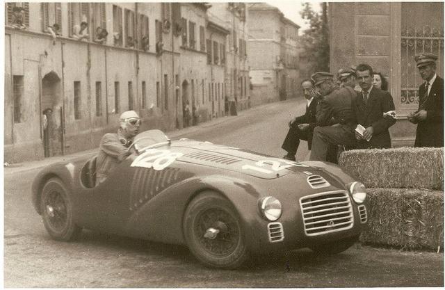 La 125S di Cortese mentre affronta il Circuito di Piacenza, 11 maggio 1947