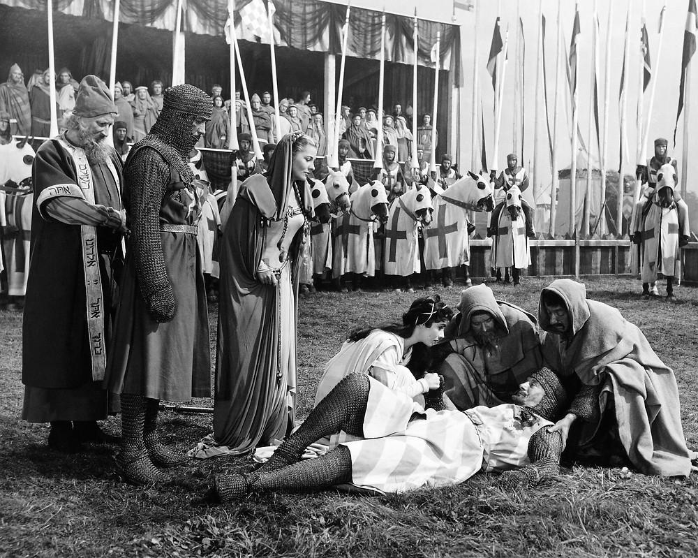 """Una scena da """"Ivanhoe"""" di Richard Thorpe, 1952"""