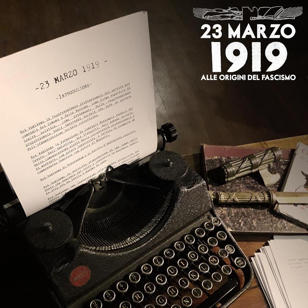 La scrivania di 23 marzo 1919